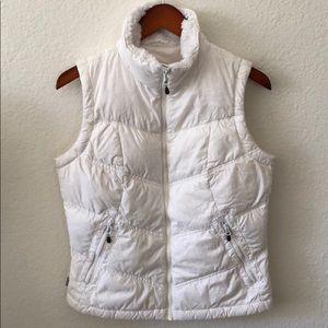 COLUMBIA Women's White Puffer Vest Size S